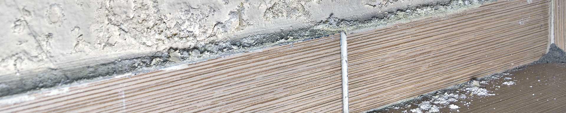damp degraded floor skirting